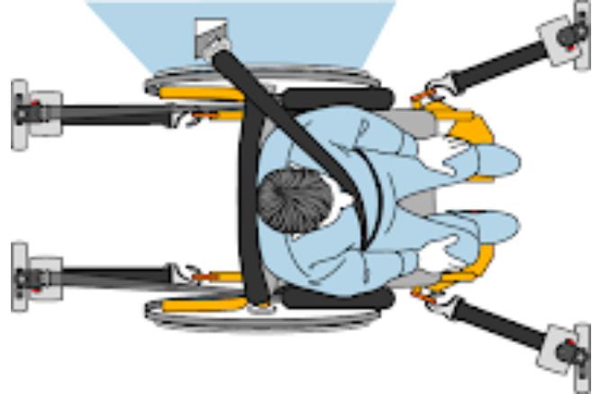 diagram of 4 point tie down wheelchair restraint